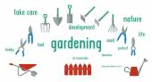 Gardening tools set of illustration. — Stockvektor
