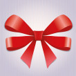 Red Ribbon on a Fancy Striped Texture — Stockvector  #60447653