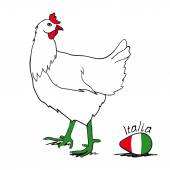 Image of an italian hen — Stock Vector