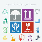 15 Useful Packaging Symbols — Stock Vector