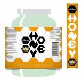 Honey label — Stock Vector