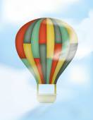 Hot Air Balloon with Colored Rectangles — Stock Vector