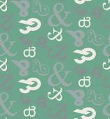 Ampersand seamless pattern background. — Stock Vector