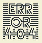 Striped Error 404 — Stock Vector