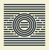 Striped Eye — Stock Vector