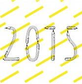 2015 happy new year text — Stock Vector