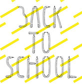 Back to school made from pencils — Stock Vector