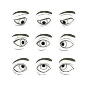 Set of Eyes Positions. — Stock Vector
