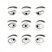 Set of Eyes Positions. — Vecteur