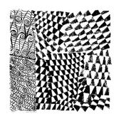 Grunge Seamless Textures. — Stock Vector