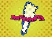 Argentina map in pop art style — Vettoriale Stock