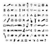 Iconos conjunto — Vector de stock