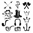 Hipster symbols set — Stock Vector #74217979