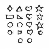 Set of different symbols — Stock Vector