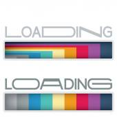 Colorful loading bars — Stock Vector