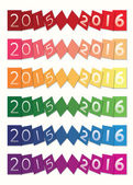 Happy new years 2015 to 2016 set — Stock Vector