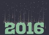 Meteorický roj nad 2016 — Stock vektor