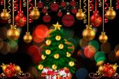 A graphical illustration of a Christmas tree — Stock Photo