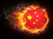 Bandiera della Cina — Foto Stock