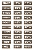 Sale Set — Stock Photo
