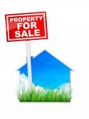 Sign - Property For Sale — Stock Photo