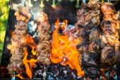 Meat cooked on the grill — Stock Photo