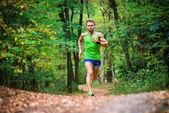 The guy running through the woods — Photo