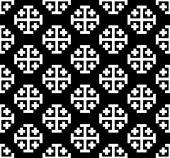 Monochrome cross seamless pattern. — Stock Vector