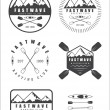 Set if vintage rafting logo, labels and badges — Stock Vector #75065869