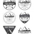 Set if vintage rafting logo, labels and badges — Stock Vector #75065881