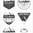 Set if vintage rafting logo, labels and badges — Stock Vector #75065885