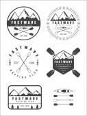 Если ретро сплав логотип, этикетки и значки — Cтоковый вектор