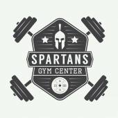 Gym logo in vintage style. — Stock Vector