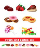 Pastries and sweets — Stock Vector