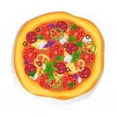 Pizza — Stock Vector