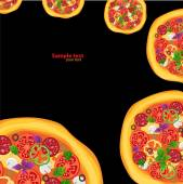 Pizza — Stockvektor