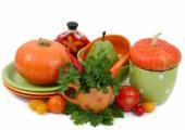在白色背景上的新鲜蔬菜. — 图库照片