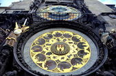 Prague's astronomical clock on Old Town Square — 图库照片