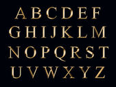 Golden alphabet — Stockfoto