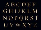 Altın alfabesi — Stok fotoğraf