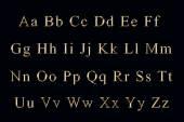Alfabeto dorado — Foto de Stock