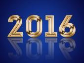 Frohes neues Jahr 2016 — Stockfoto