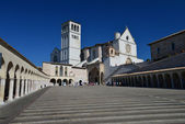 Front view of the Basilica of St. Francis of Assisi — Stock Photo