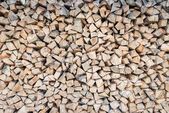 Big pile of birch wood logs stored for winter as background pattern — Stock Photo