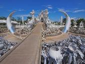 White Temple in Chiang Rai , Thailand. — Stock Photo