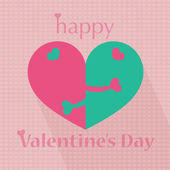 Happy valentine's day heart pattern illustrations — Stock Vector
