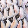 Dried salted fish under the sun — Stock Photo #73079981