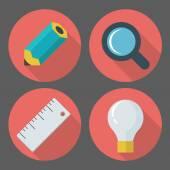 Vector business concept, infographic design elements in flat ret — Stock Vector