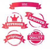 Wine retro stamps — Stock Vector