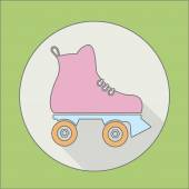 Roller skate icon — Stock Vector